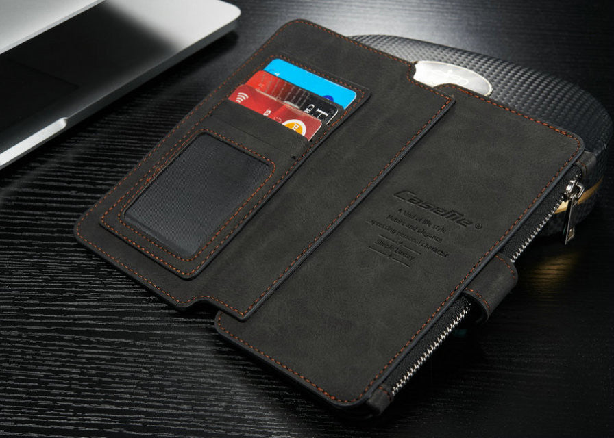 quality design 9eecf 7cf63 Apple iPhone 7, 7 Plus Multi-functional Cards Holder Leather Wallet Case