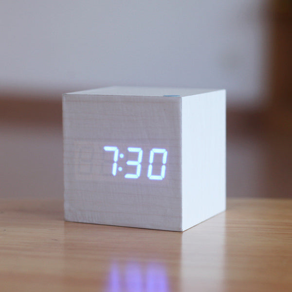 Wooden LED Alarm Clock - Luv2ShopNZ