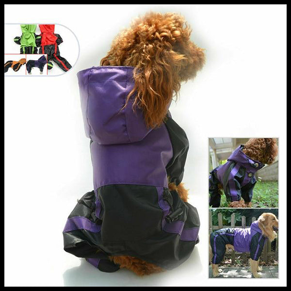 All Sizes Dog Raincoat Romper - 10 Sizes