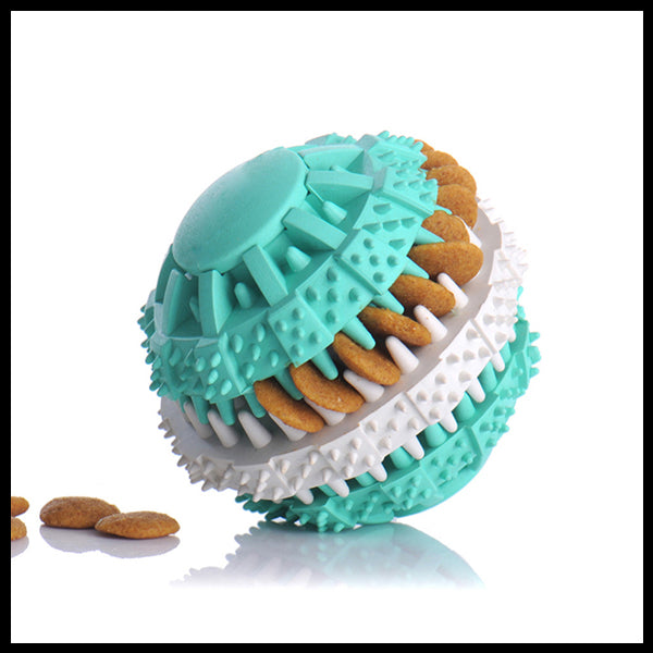 Interactive Treat Rubber Ball Toy