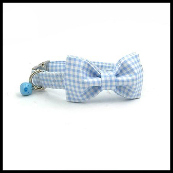 Baby Blue Collar, Bow Tie & Lead Set