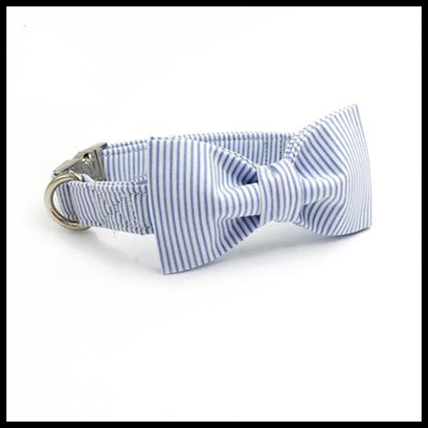 Beach House Collar, Bow Tie & Lead Set