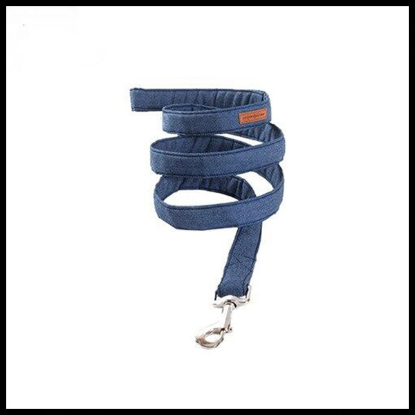 Blue Jeans Collar, Bow Tie & Lead Set