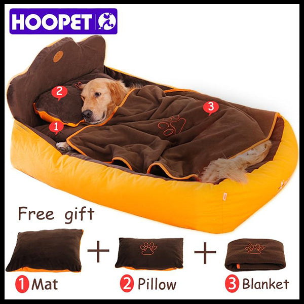 Brown & Gold Hoopet Luxury Bed