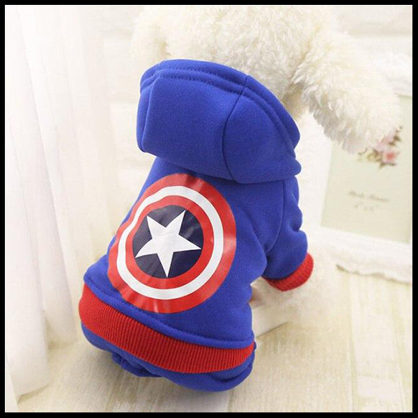 Character Dog Hooded Rompers