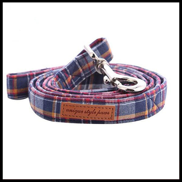 Country Style Collar, Bow Tie & Lead Set