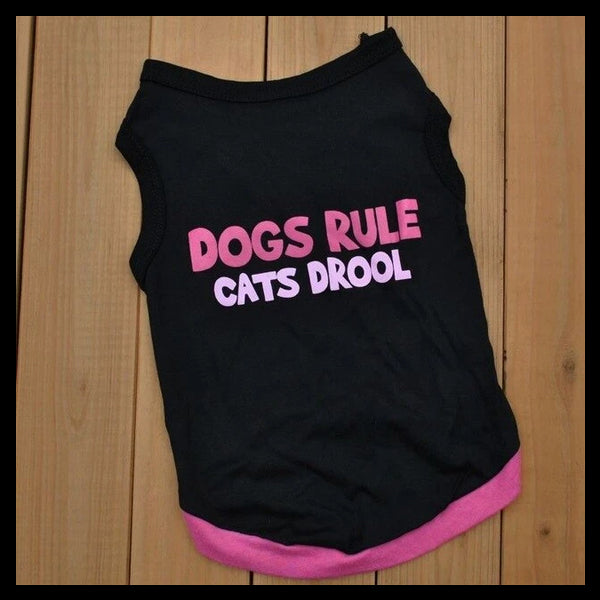 Dogs Rule Cats Drool Dog Shirt
