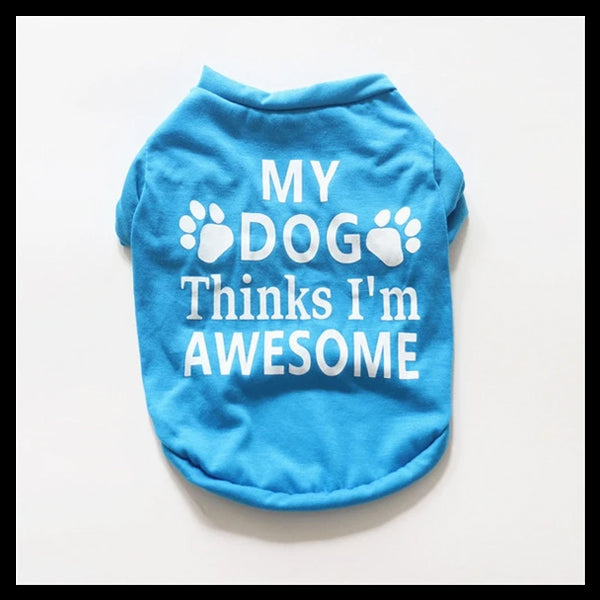 Awesome Fun Print Dog Shirts