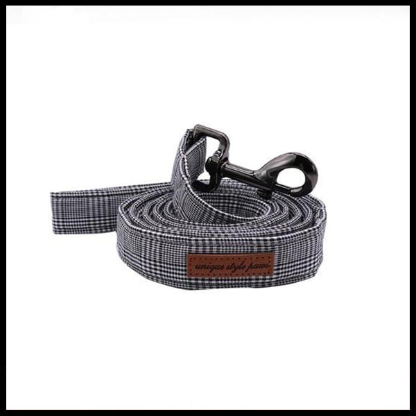 Grey Dapper Collar, Bow Tie & Lead Set