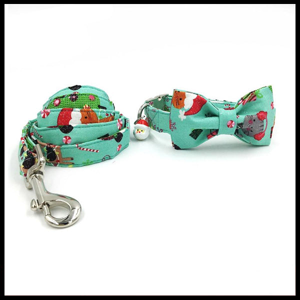 Kitty Christmas Collar, Bow Tie & Lead Set