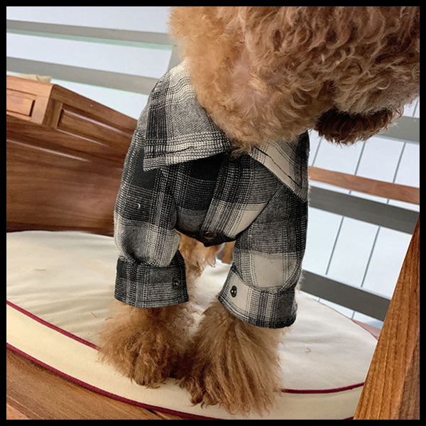 Plaid Dog Button Up Shirt 9 Sizes!