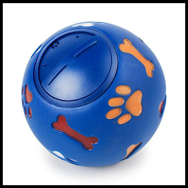Rubber Treat Ball Dog Toy