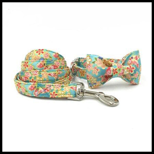 Springtime Collar, Bow Tie & Lead Set