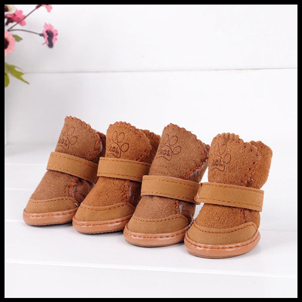 Lovely Suede & Fleece Dog Boots
