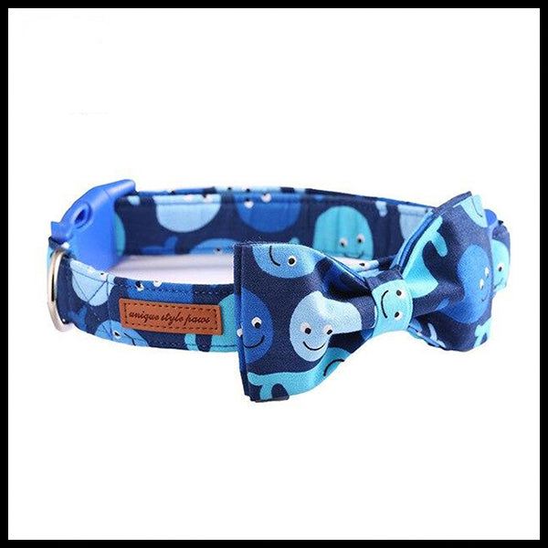 Whale of a Time Collar, Bow Tie & Lead Set