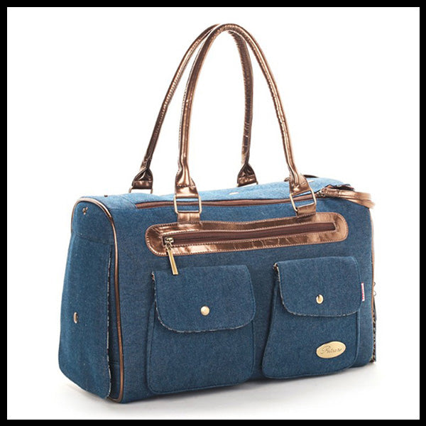 PetCare Denim Dog Carrier