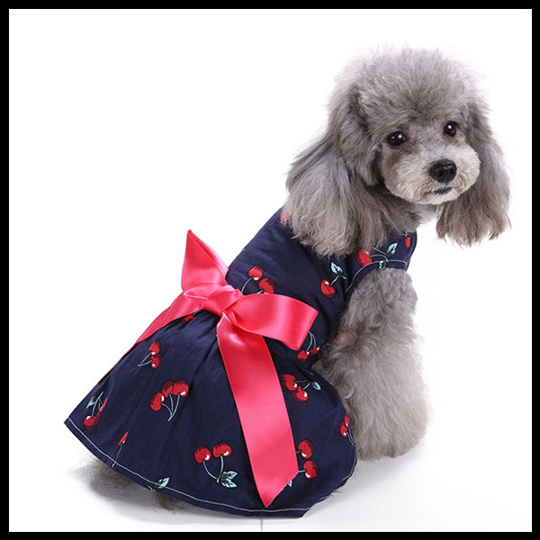 Cherry Ribbon Dog Dress
