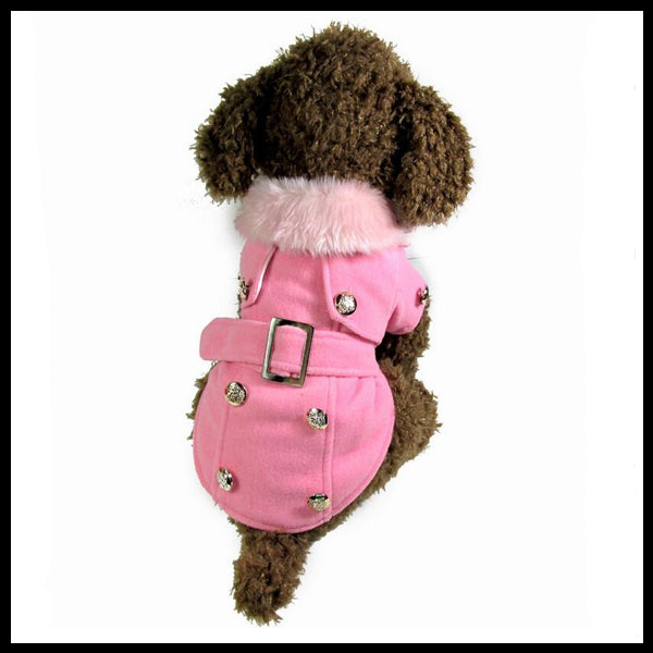 Fancy Fur Collar Dog Jacket