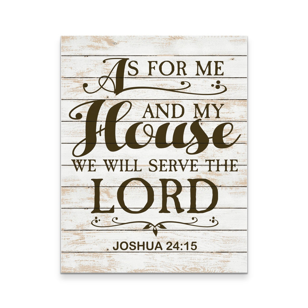 As For Me And My House Wall Art as for me and my house, we will serve the lord 11x14 - goods of joy