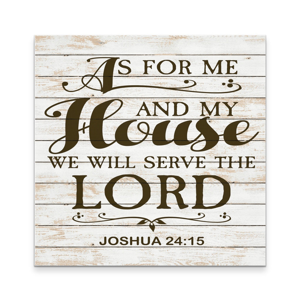 As For Me And My House Wall Art as for me and my house, we will serve the lord 12x12 - goods of joy