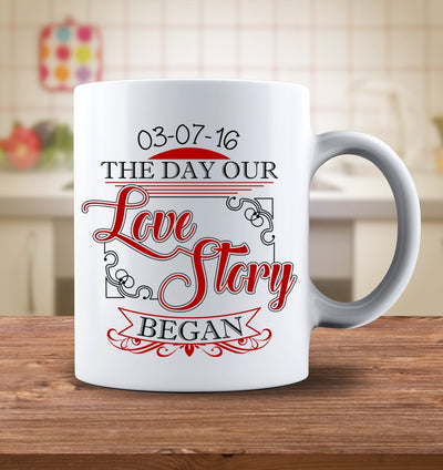 Drinkware - Love Story Personalized Mug