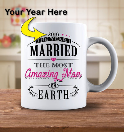 Drinkware - Personalized The Year I Married The Most Amazing Man On Earth Mug