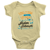 Welcome To The World Boy Personalized Baby Onesie (Orange)