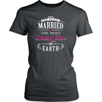 T-shirt - 2016 The Year I Married The Most Amazing Man On Earth Shirt