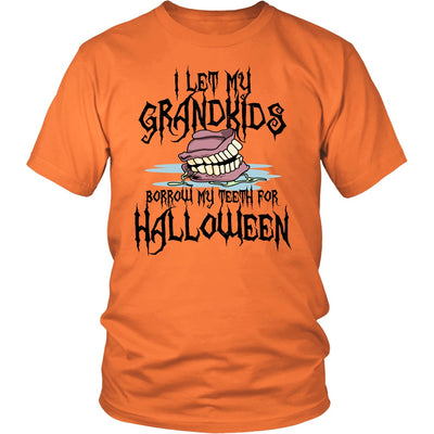 T-shirt - I Let My Grandkids Borrow My Teeth For Halloween Shirt