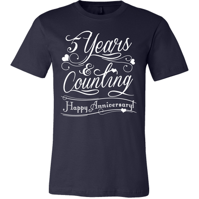 T-shirt - Years & Counting Anniversary Personalized Mens Shirt