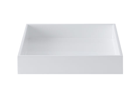 LAQUER TRAY SQUARE WHITE