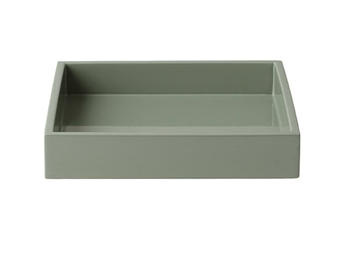 LAQUER TRAY SQUARE STEEPLE GREY