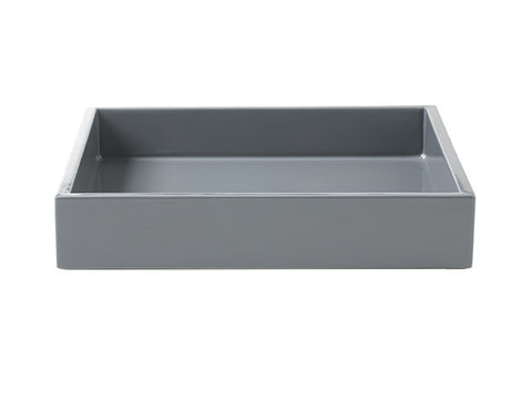 LAQUER TRAY SQUARE ANTRACIT