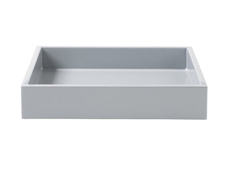 LAQUER TRAY SQUARE COOL GREY