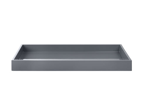 LAQUER TRAY RECTANGLE ANTRACIT