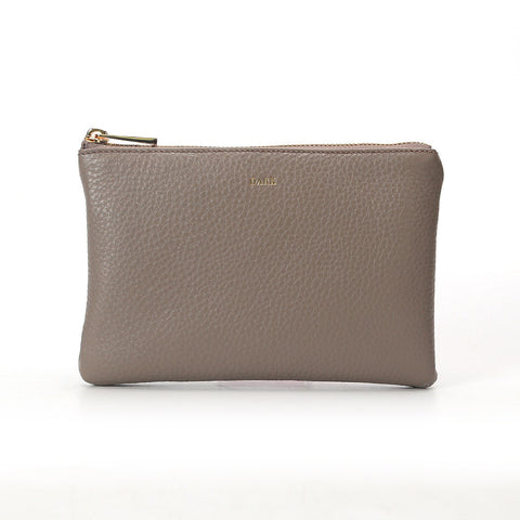 POUCH SMALL GREY GOLD
