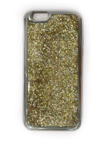 IPHONE COVER GOLDEN MIX W/SILVER EDGE