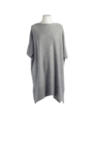 CASHMERE LONG SWEATER GREY