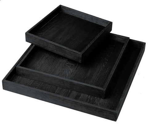 BLACK STAINED TRAY L
