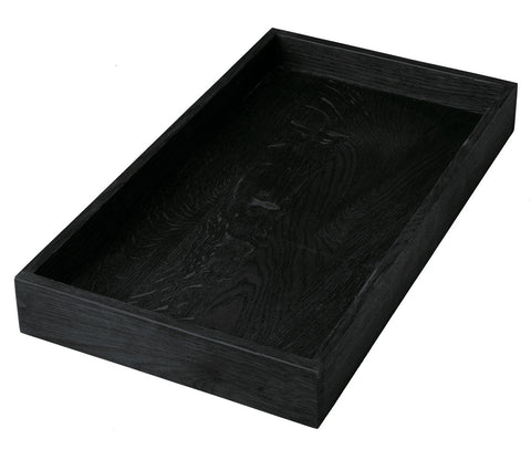 BLACK STAINED TRAY RECTANGLE