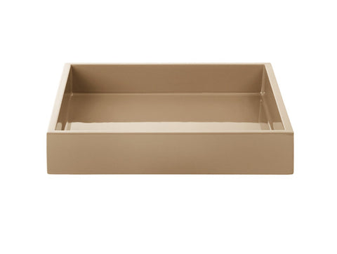 LAQUER TRAY SQUARE CARAMEL