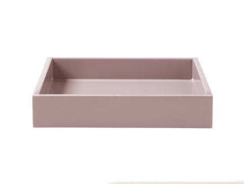LAQUER TRAY SQUARE POWDER ROSE