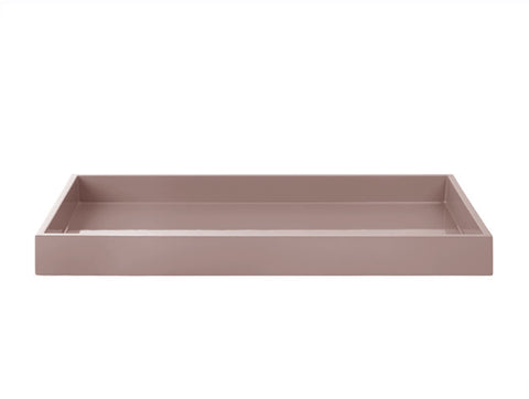 LAQUER TRAY RECTANGLE POWDER ROSE