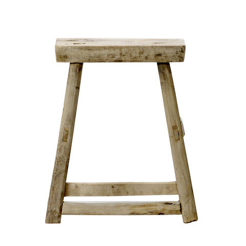 ELM WOOD STOOL