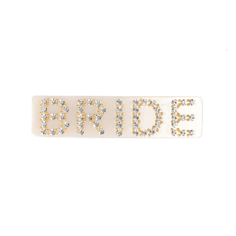 LARGE HAIR CLIP BRIDE SAND