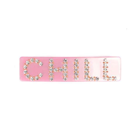 LARGE HAIR CLIP CHILL PALE PINK