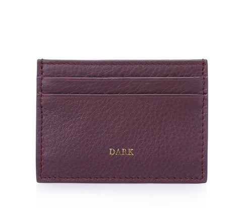 CARD HOLDER RICH PLUM