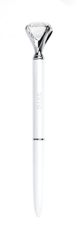 DIAMOND PEN WHITE W.SILVER