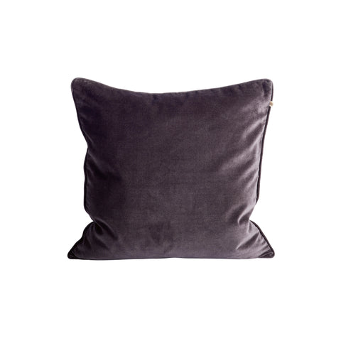 VELVET PILLOW COVER THUNDER 50x50