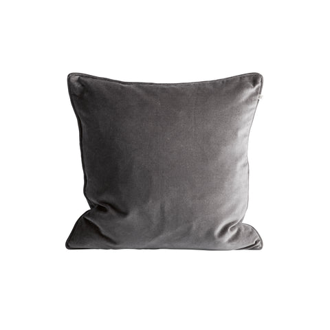 VELVET PILLOW COVER GREY 50X50